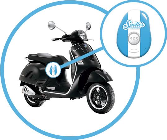 prot gez votre scooter avec le traceur gps spotter. Black Bedroom Furniture Sets. Home Design Ideas