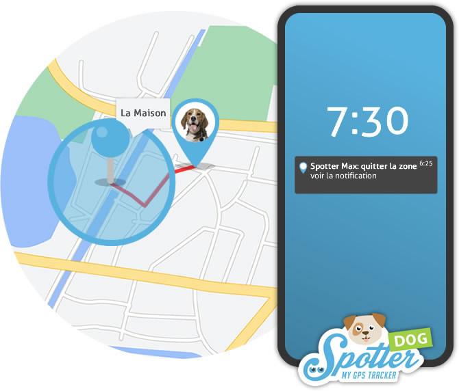 GPS chien Spotter - zones