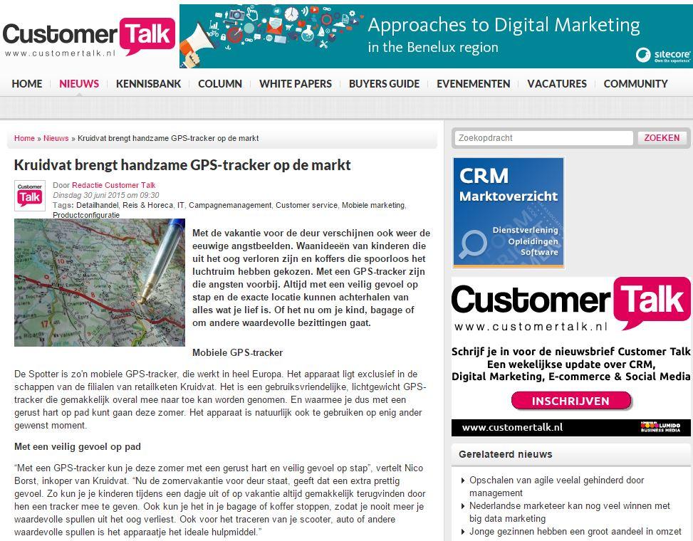 Customer Talk - Spotter GPS Tracker