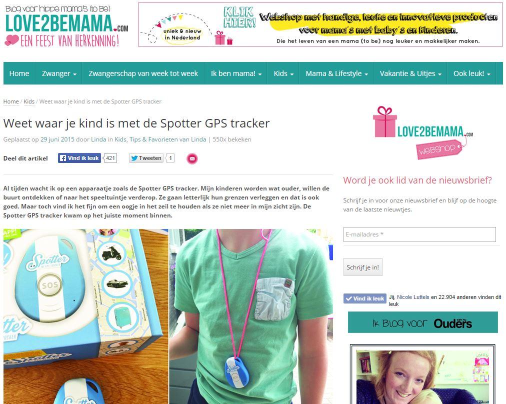 Love2BeMama - Spotter GPS Tracker