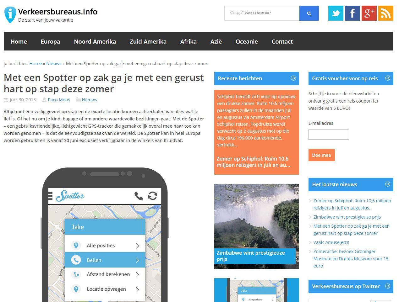 Vekeersbureaus.info - Spotter GPS Tracker