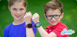 GPS horloge kind Spotter samen