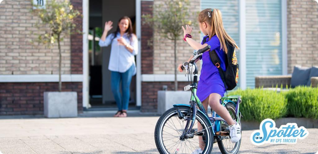 GPS horloge kind Spotter uitzwaaien
