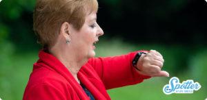 Spotter horloge alzheimer dementie bellen