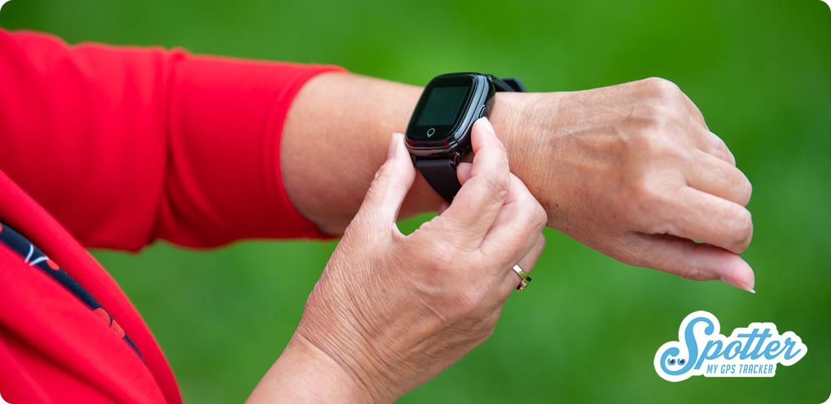 Spotter horloge alzheimer dementie - alarmknop