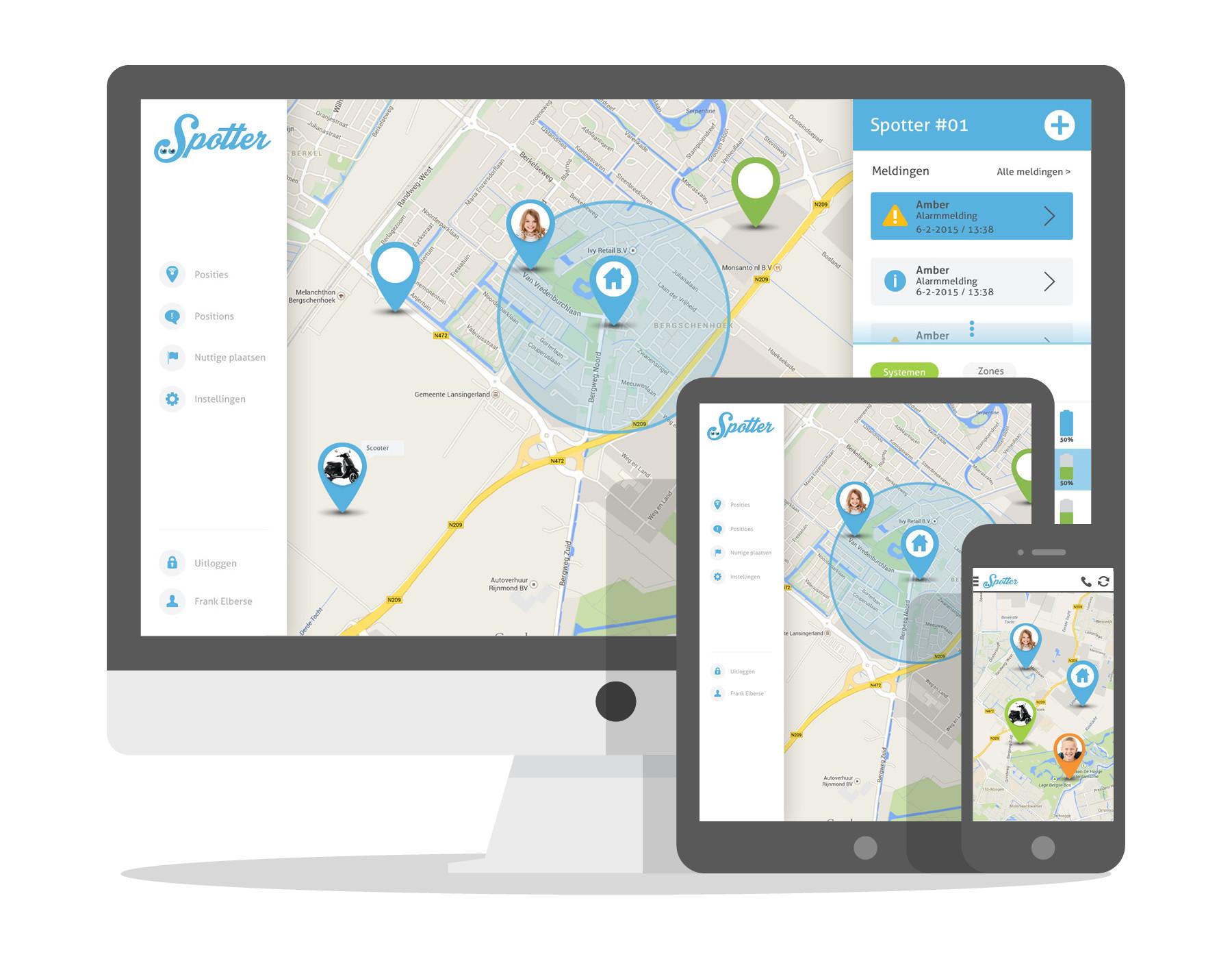 Mini gps tracker - online en app Spotter