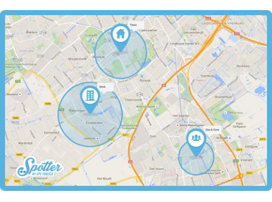 dementie gps tracker spotter - zones