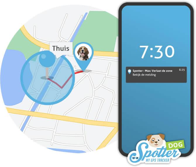 GPS hond - zones Spotter