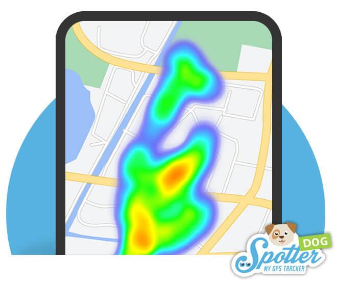 GPS tracker hond - hotspots Spotter