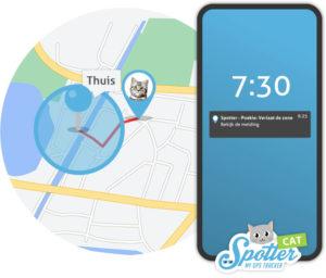 GPS tracker kat - zones Spotter